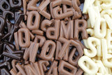 chocolade mini lettertjes