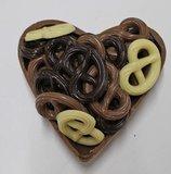 hart met chocolade