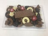 Chocolade schaal merry christmas_