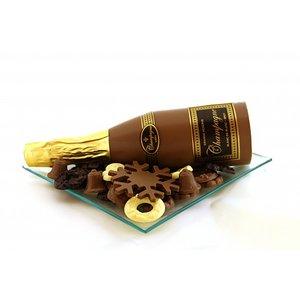 Chocolade kerst champagne schaal